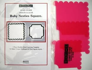 B-C-E NESTIES BABY SQUARE Card Making Template