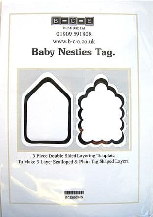 B-C-E NESTIES BABY TAG Card Making Template