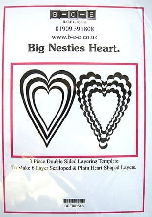 B-C-E NESTIES BIG HEART Card Making Template