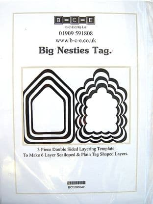 B-C-E NESTIES BIG TAG Card Making Template