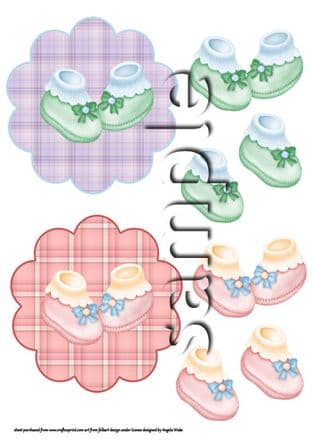 BABY BOOTIES TOPPERS sheet AW30