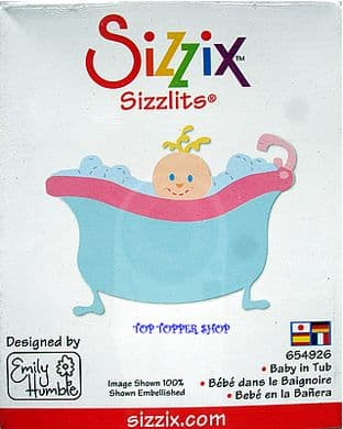BABY IN TUB SIZZIX SIZZLITS SINGLE DIE