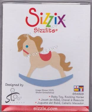 BABY TOY ROCKING HORSE SIZZIX SIZZLITS SINGLE DIE 654928
