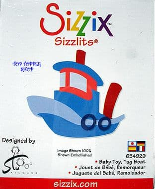 BABY TOY, TUG BOAT SIZZIX SIZZLITS SINGLE DIE