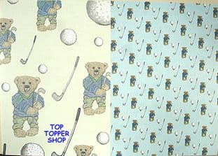 BEAR LIFE - ON THE BALL - DESIGN HOUSE BACKING PAPER