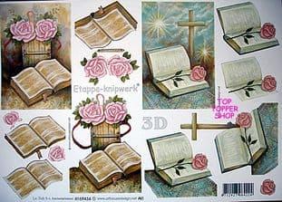 BIBLE & ROSES DECOUPAGE LE SUH 434