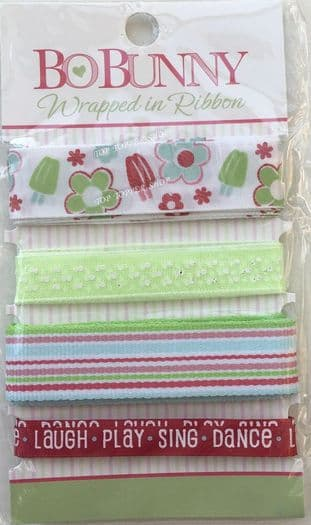BO-BUNNY WRAPPED IN RIBBON SWEET SUMMER 12 FT
