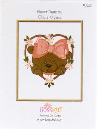 BOSS KUT DOUBLE CUTTING DIE - HEART BEAR 0338