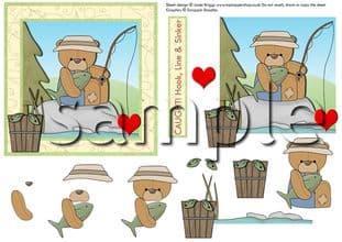 BRANDY BEAR IN LOVE DECOUPAGE  digital download