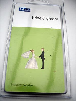 BRIDE & GROOM QUICKUTZ DOUBLEKUTZ DIE
