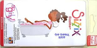 BROOKE IN BATHTUB SIZZIX SIZZLITS MEDIUM SINGLE DIE
