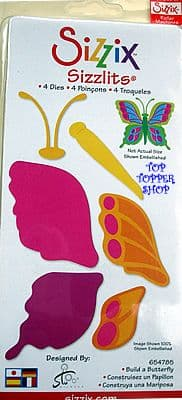 BUILD A BUTTERFLY SET SIZZIX SIZZLITS