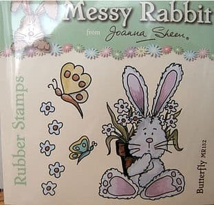BUTTERFLY - MESSY RABBIT RUBBER STAMPS JOANNA SHEEN