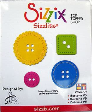 BUTTONS #5 SIZZIX SIZZLITS SINGLE DIE