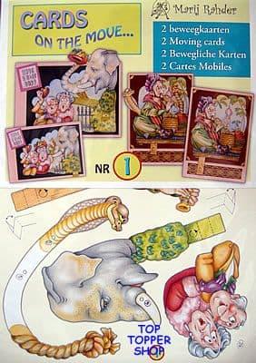 CARDS ON THE MOVE 1 - ELEPHANT & SNAKE CHARMER