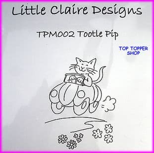 CAT STAMP - TOOTLE PIP by LITTLE CLAIRE DESIGNS