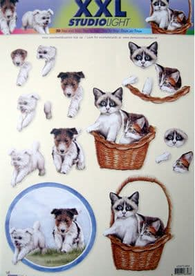 CATS & DOGS STUDIO LIGHT DECOUPAGE XXL 964