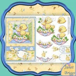 CHEEP CARD FOR YOU Topper & Decoupage  printed sheet 331