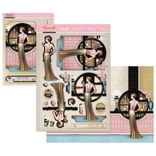 Cheers to You - The Golden Age of Glamour Hunkydory Die Cut Decoupage Kit