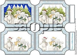 CHILLED CHRISTMAS tunnel decoupage sheet 306