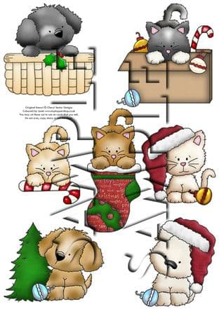 Christmas Coco & Calvin Exclusive Clipart Printed Sheet