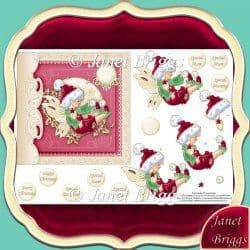CHRISTMAS FAIRY Topper & Decoupage printed sheet 330