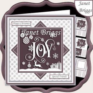 CHRISTMAS MONOTONE JOY 7.5 Quick Card Kit digital download