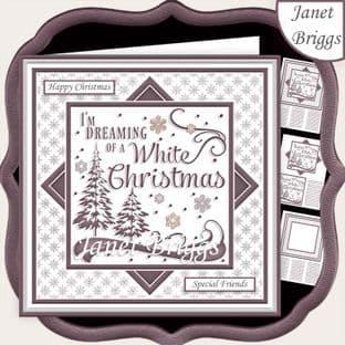 CHRISTMAS MONOTONE WHITE CHRISTMAS 7.5 Quick Card Kit digital download