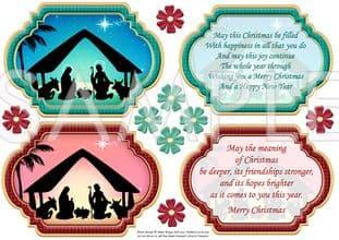 CHRISTMAS NATIVITY Plaques & Verses digital download 549fot