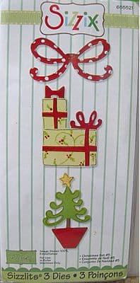 CHRISTMAS SET #5  3 DIE SET SIZZIX SIZZLITS