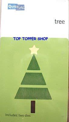 CHRISTMAS TREE (segmented) QUICKUTZ DOUBLEKUTZ DIE KS-0776