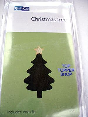 CHRISTMAS TREE w/ STAR QUICKUTZ SINGLEKUTZ DIE RS-0584