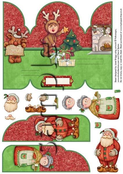 Claus Family Christmas Printed Sheet
