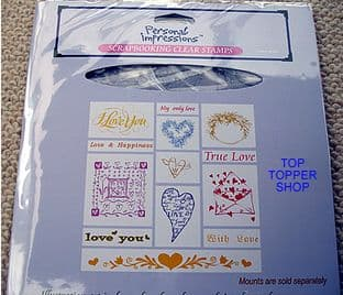 CLEAR UNMOUNTED STAMPS LOVE