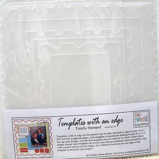 COLOUR MY WORLD Card Making Template WITH AN EDGE - TOTALLY STAMPED