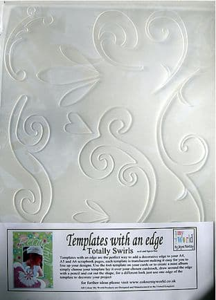 COLOUR MY WORLD Card Making Template WITH AN EDGE - TOTALLY SWIRLS