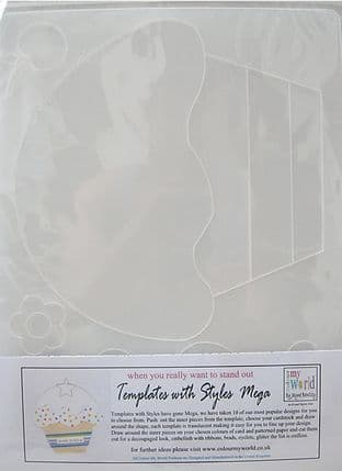 COLOUR MY WORLD Card Making Template WITH STYLE MEGA - CUPCAKE