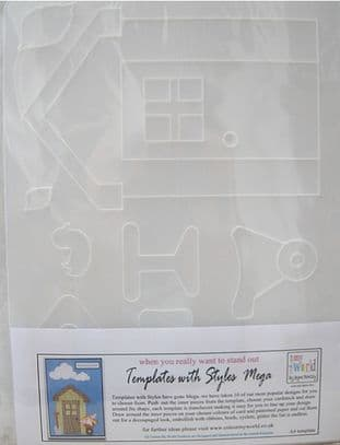 COLOUR MY WORLD Card Making Template WITH STYLE MEGA - GARDEN SHED