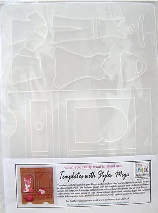 COLOUR MY WORLD Card Making Template WITH STYLE MEGA - LADIES WARDROBE