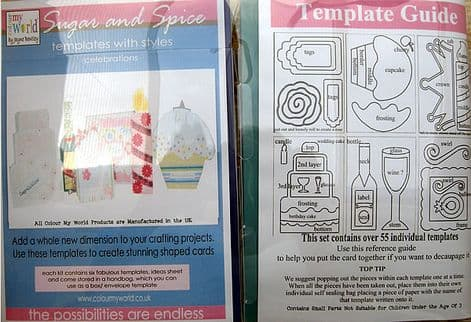 COLOUR MY WORLD Card Making Templates - SUGAR & SPICE celebrations set