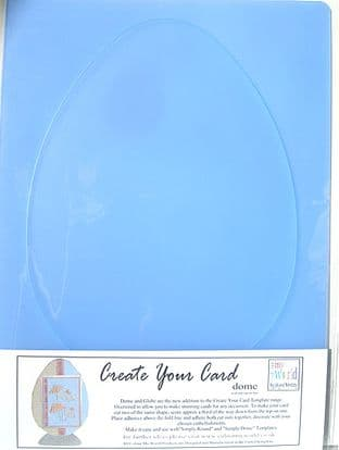 COLOUR MY WORLD CREATE YOUR CARD - DOME / EGG TEMPLATE