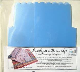 COLOUR MY WORLD ENVELOPES WITH AN EDGE TEMPLATE C5