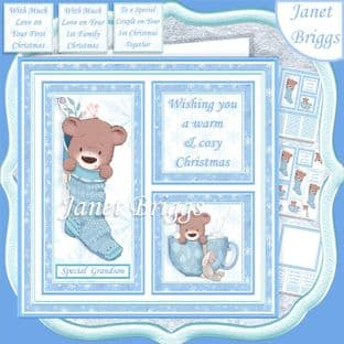 COSY CHRISTMAS SQUARES 7.5 Quick Card Kit digital download