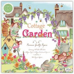 """Cottage Garden 6""""x6"""" Premium Paper Pad Craft Consortium"""