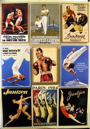 CRAFTIME PEARL PAPER CARD TOPPERS VINTAGE BOXING GYMNASTICS 030