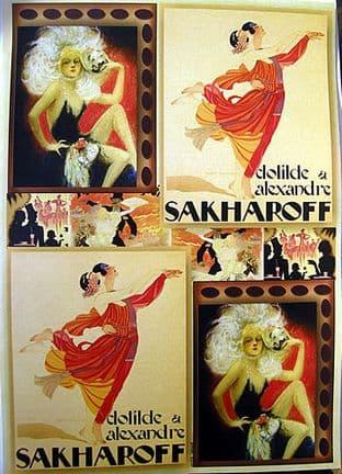 CRAFTIME VINTAGE DANCING PEARL TOPPERS SAKHAROFF 036