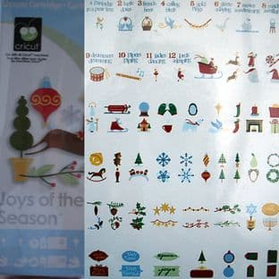 CRICUT SHAPES CARTRIDGE, JOYS OF THE SEASON