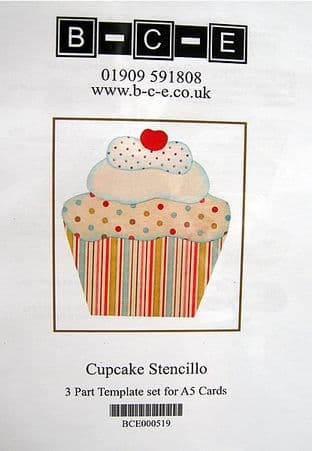CUPCAKE STENCILLO Card Making Template FROM B-C-E