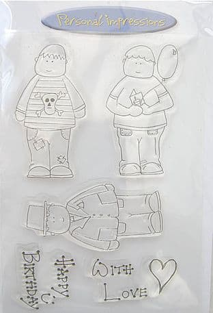 CUTE CHARACTERS SET 4 PERSONAL IMPRESSIONS CLEAR STAMPS PICS019