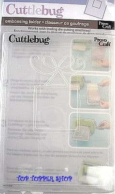 CUTTLEBUG EMBOSSING FOLDER * BOW FRAME *